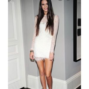 For Love And Lemons lovebirds white lace dress S